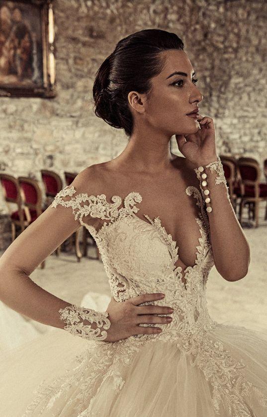 Featured Dress: Julia Kontogruni; Wedding dress idea.