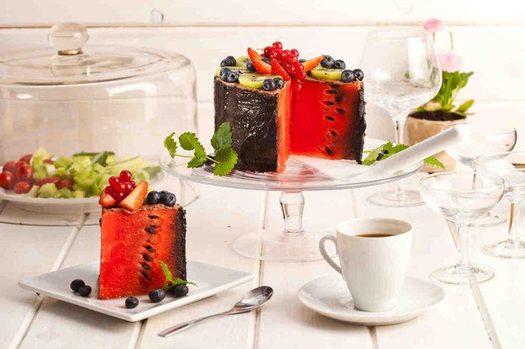 Arbuzowy tort #smacznastrona #przepisyTesco #arbuz #tort #tortarbuzowy #deser #pycha #food