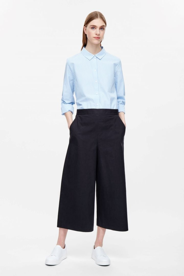 COS | Wide-leg cotton trousers