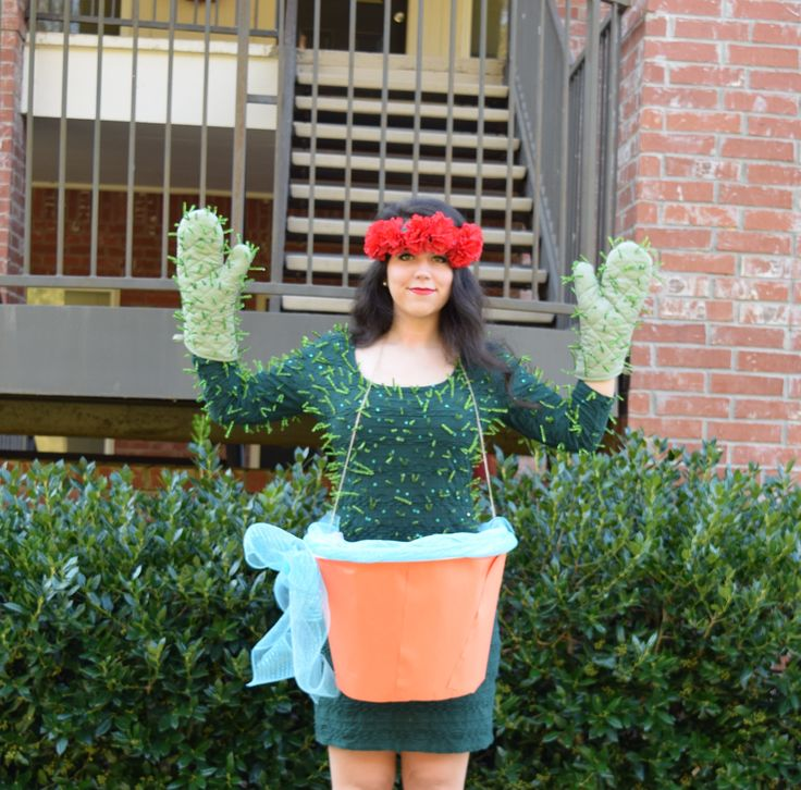 This DIY Cactus Costume only takes a few minutes to put together and costs just a few dollars. My biggest tip when trying to create a budget-friendly DIY costume is to see what you have in .