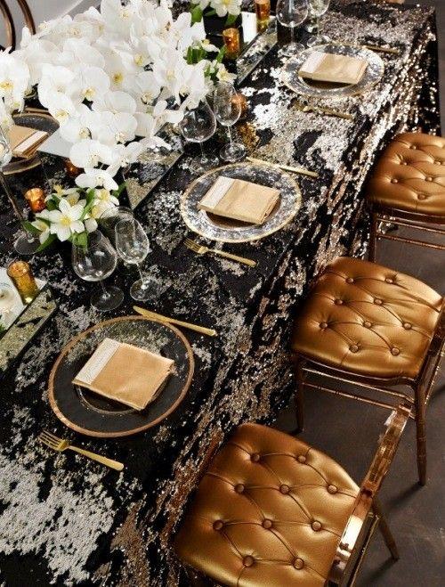 Gold Ist Die Zeitlose Trendfarbe Bei Der Silvester Tischdeko