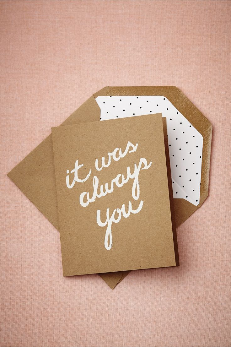 It Was Always You Card from BHLDN