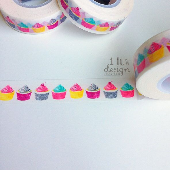 Cupcakes Washi Tape (Decorative Tape) Baby Shower • Craft Supply • DIY • Embellishment • Card Making • Decorating • Paper Crafting (SC9543) by iluvdesign on Etsy https://www.etsy.com/listing/194494313/cupcakes-washi-tape-decorative-tape-baby