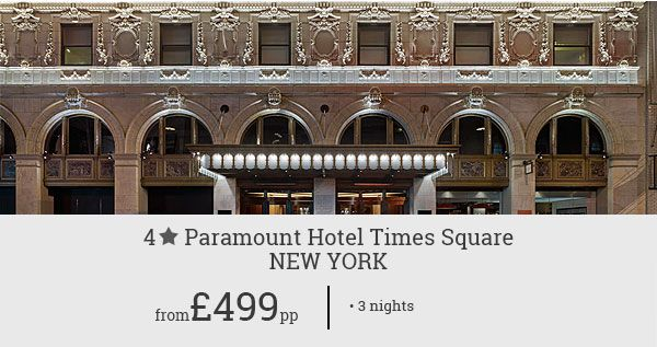 Admire a perfect mix of history, culture, and entertainment in New York. Set off for a memorable trip with this affordable deal for Paramount Hotel Times Square.