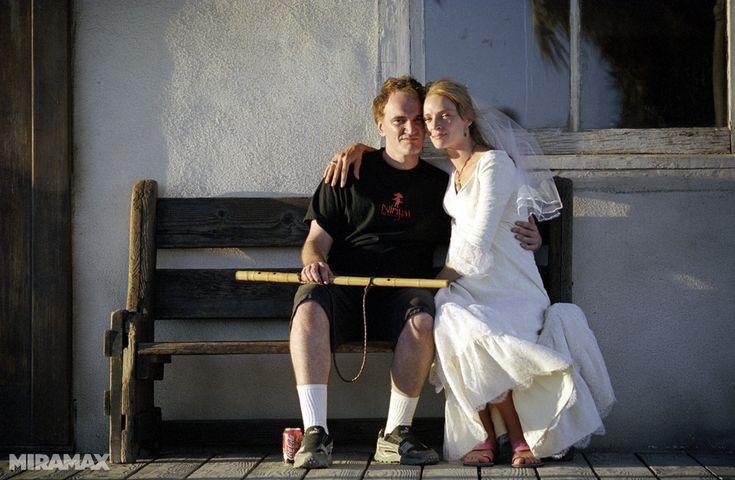 Fotos inéditas detrás de las cámaras de 'Kill Bill: Vol. 2' de Quentin Tarantino (Pinchando en la imagen veréis el resto de las fotografías)