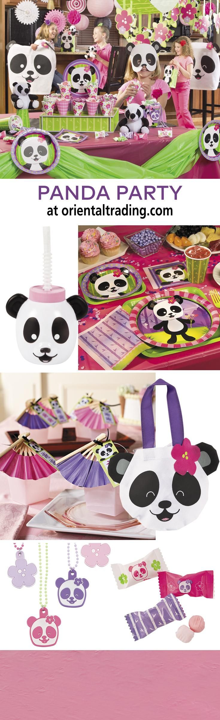 Panda Party | The birthday girl will have a wild time when you throw her a panda birthday party! You'll find everything from party decorations and tableware to fun panda party favors and more. #party