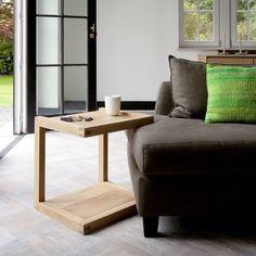 Oak Frame Sofa Beistelltisch