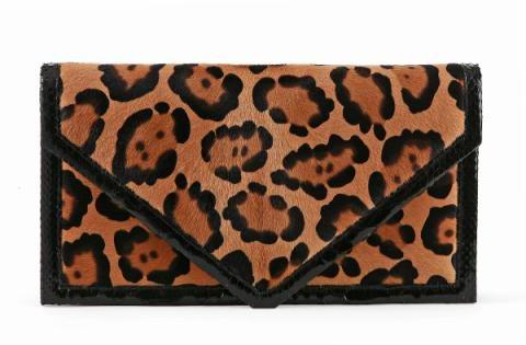 Hunting Season Leopard Envelope Clutch
