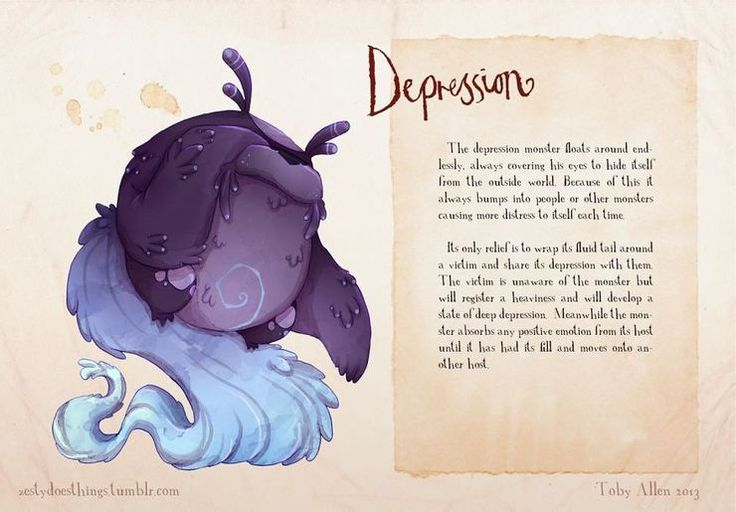 Found this artist who draws mental disorders as real monsters -Feb 2, 2016 -  Imgur: The most awesome images on the Internet.