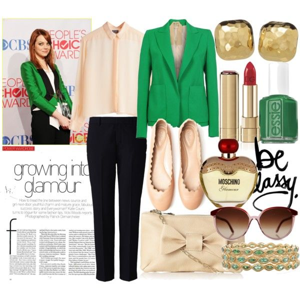 Green blazer for casual Fridays?  Must get.