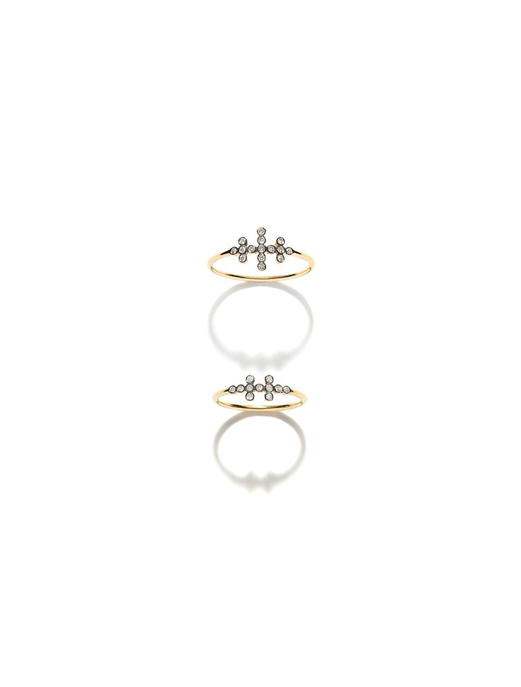 CHARNIERES rings, yellow & black gold 18K with brilliant-cut diamonds