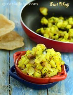 Puri Bhaji, Poori Bhaji, Aloo Puri Recipe recipe | by Tarla Dalal | Tarladalal.com | #41333