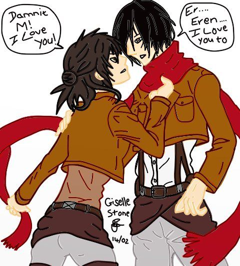 Eren and Misaka Genderbend by GunRaider on DeviantArt