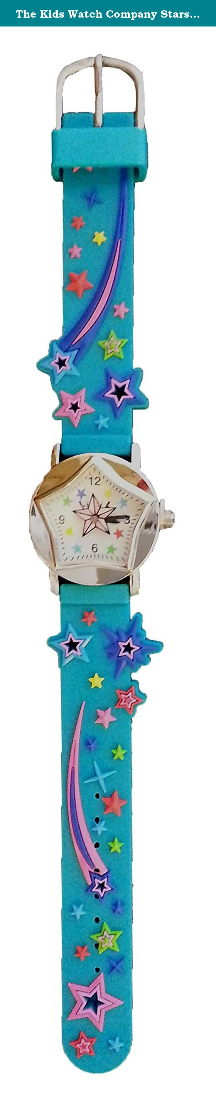 The Kids Watch Company Stars Watch One Size Teal Band. Children will love this colorful theme watch that will make learning to tell time fun! The Stars watch has a teal PVC band with raised colorful stars and shooting stars. The watch has a star second hand, and the watch face is star shaped and printed with coordinating colors. The light weight and band width make it the perfect size to fit kids' small wrists. Ages 4 and up, Quartz movement, Analog battery operated (battery included)…