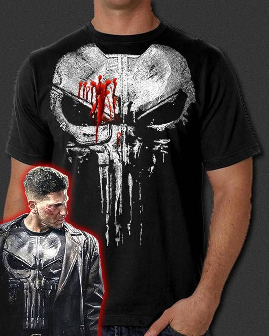 83d02e904 This is a new Punisher Skull t-shirt featuring the new painted body armor  design in a big, bold design print. Two design versions are available  regular and ...