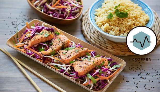 Ørret kombinert med en frisk, spicy og sunn thaisalat er oppskriften på en perfekt hverdagsmiddag.
