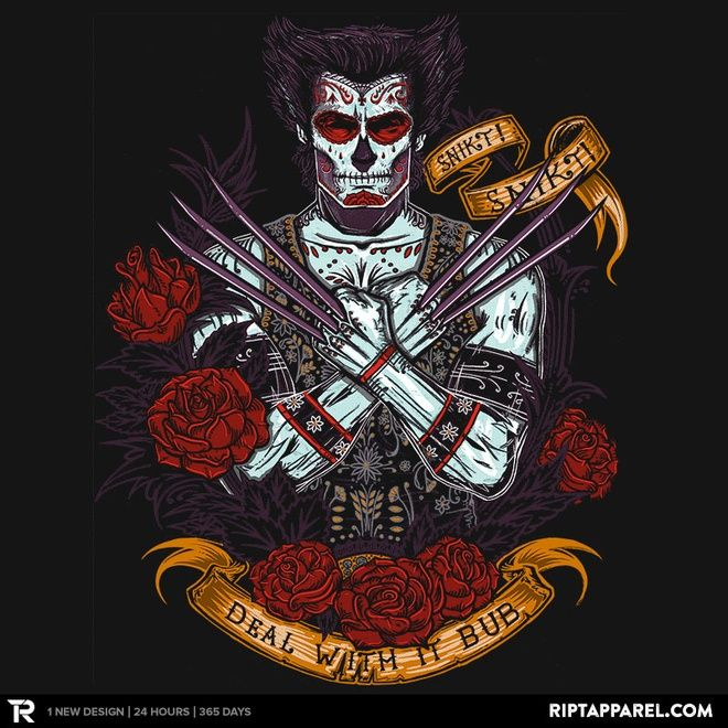 Day of the Dead - Part of a set of 3 beautiful Marvel-themed designs by Ript Apparel.