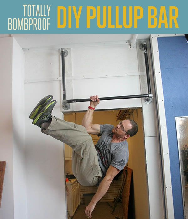 How to build an super strong pull up bar - step-by step instructions. Cool DIY Fitness project! #DIYReady