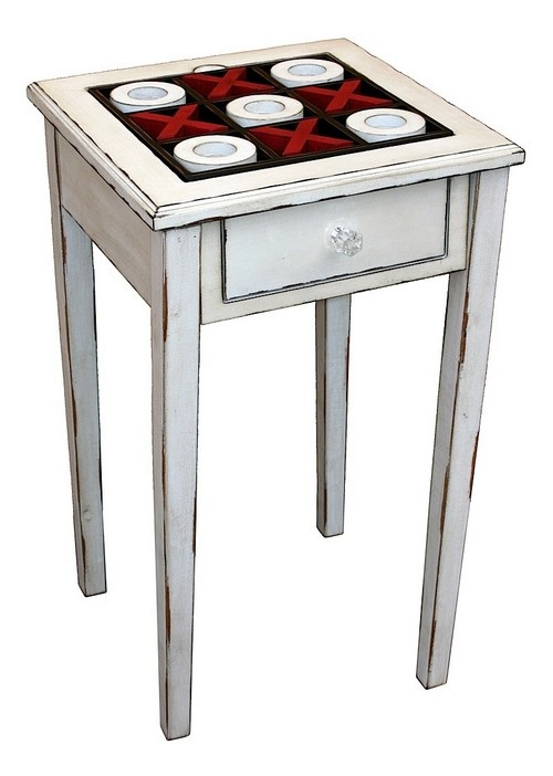 Side Table - Noughts and Crosses - If you are looking for some novelty items to bring character into a particular room in your house, this uniquely designed side table may just be the perfect addition.