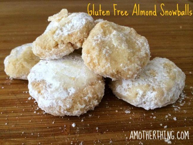 Gluten Free Almond Snowball Cookies | Gluten free desserts | Pinterest