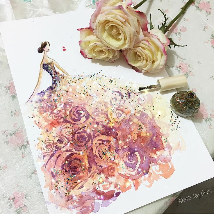 13 Stunning Fashion Sketches Created Using Nail Polish Instead Of Paint