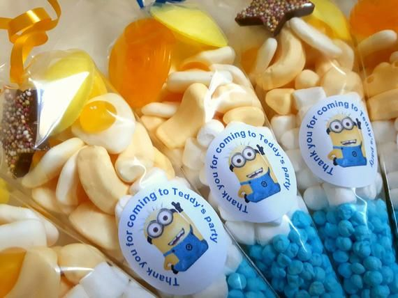 Minions inspired ~ Labels ~ Stickers ~Party~ sweet cone bags