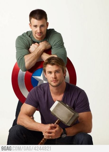 Thor and Captain America...so attractive