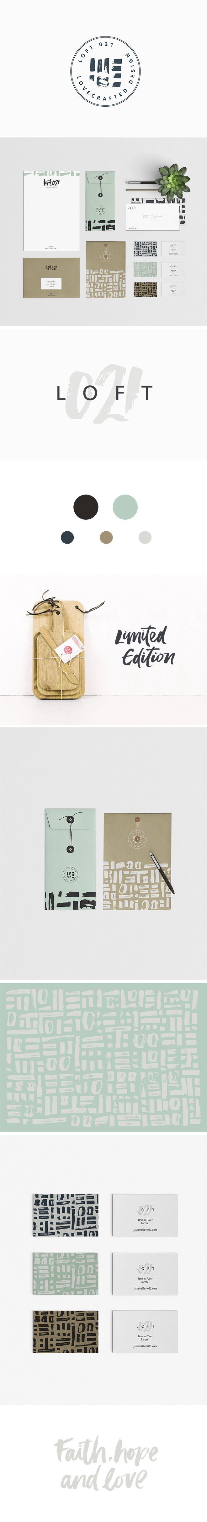 stunning #branding for LOFT021 by Corina Nika #graphicdesign