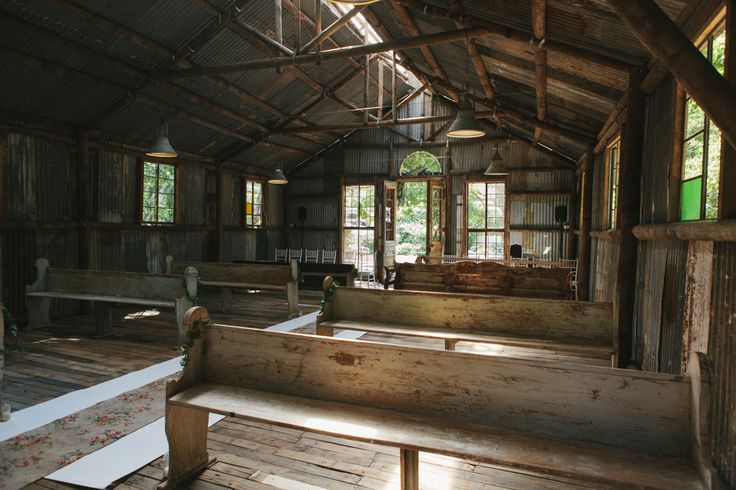 Rustic chapel with old church pews at Simondium Country Lodge - Le Sueur Photography