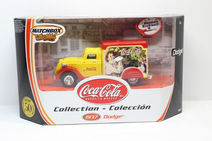 1937 Dodge Norman Rockwell Coke Truck Matchbox Collectible Diecast 1:43rd Scale #MatchboxCocaCola #Dodge