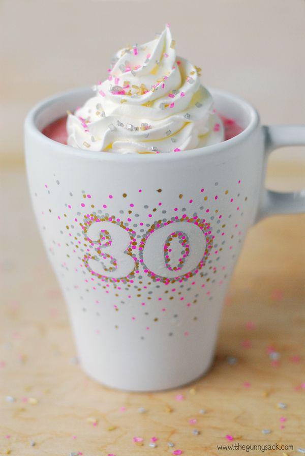 DIY Sprinkles Birthday Cup and Smoothie