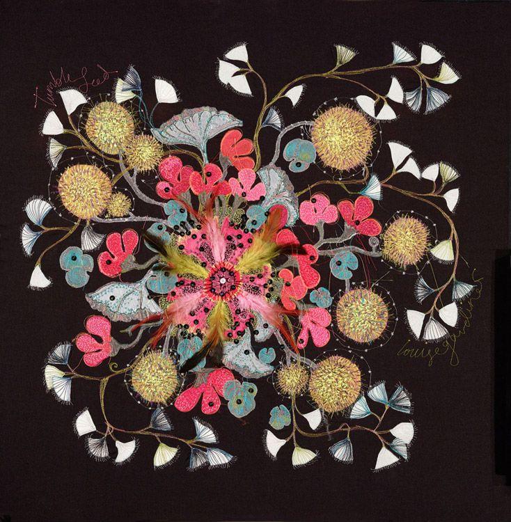 Lou gardiner tumble seed free machine embroidery