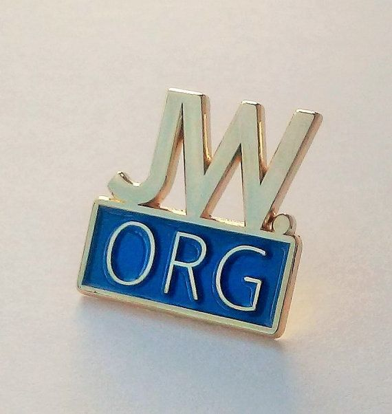 JW.org pin for Jehovah's Witnesses blue and gold by EvilKittyCove