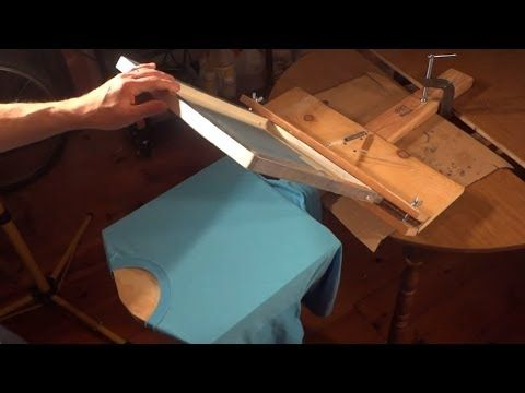 How To Build A Cheap T Shirt Screen Printing Press - YouTube