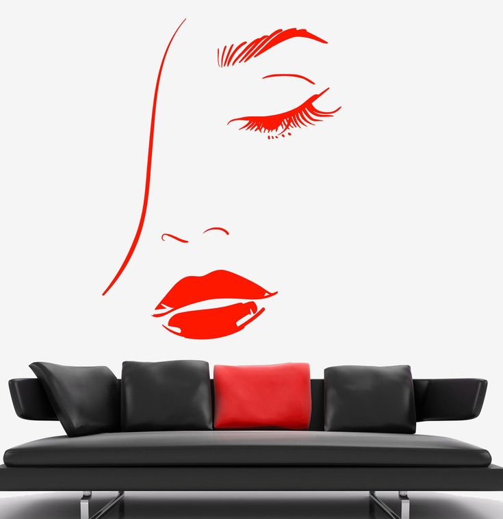 Wall Vinyl Decal Sexy Girl With Beautiful Face Decor z3745