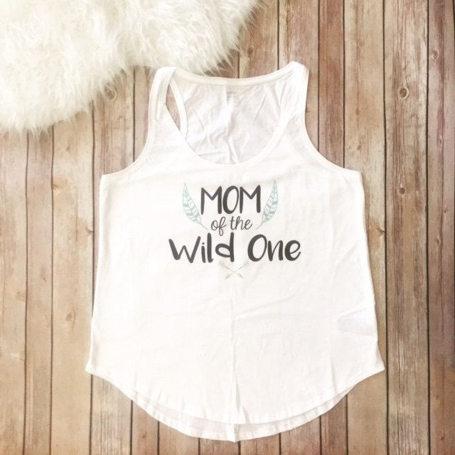 Mom of the Wild One, Mom Shirt, Wild Birthday Party Shirt, Where the wild things are, Funny Mom Shirt, Womens Clothing, Womens Tank Top by KyCaliDesign on Etsy