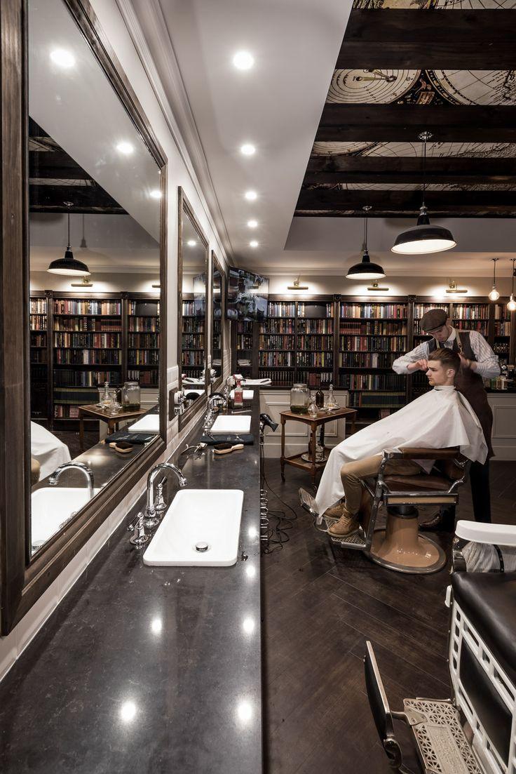 Best 25 barber shop interior ideas on pinterest barber shop barbershop and industrial - Barber shop interior ...