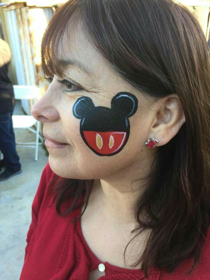 Easy Mickey Mouse Face Paint