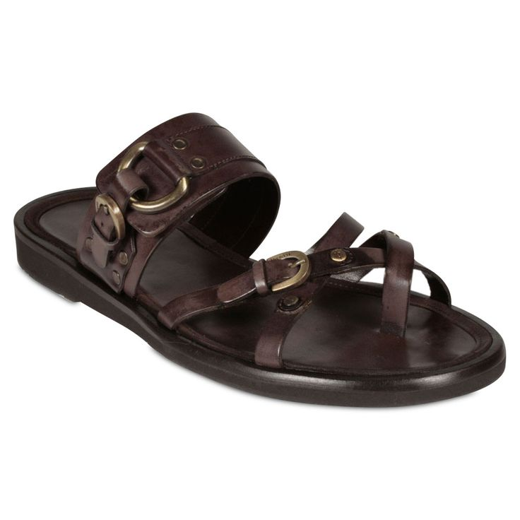 designer sandals | Cesare Paciotti Men's Designer Shoes Brown Sandals (CPM834B)