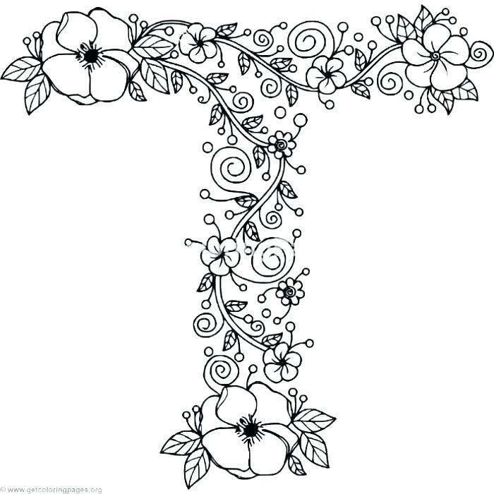 Letter T Coloring Pages Alphabet Letter Coloring Pages Also Floral Alphabet Letter T Coloring Pages Let Coloring Letters Alphabet Coloring Pages Floral Letters