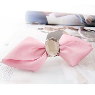 Diamond bow hair pin -pink