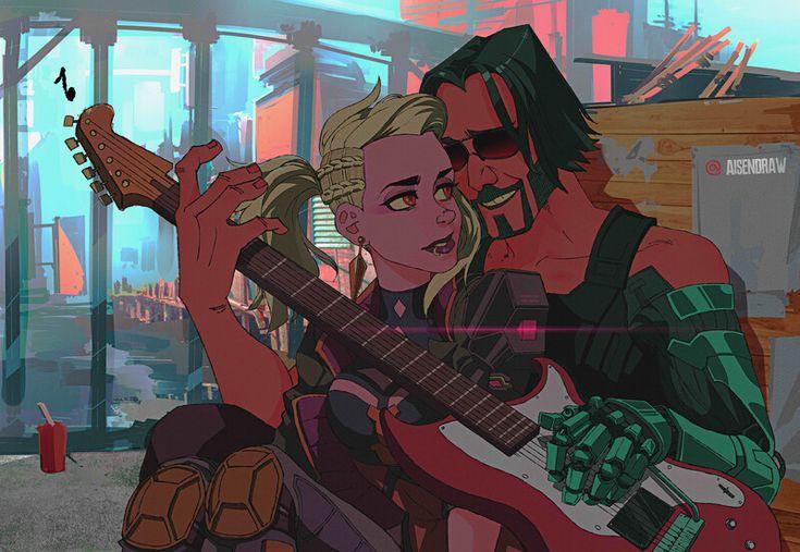 ArtStation - Johnny Silverhand - Cyberpunk 2077, AISENDRAW ...