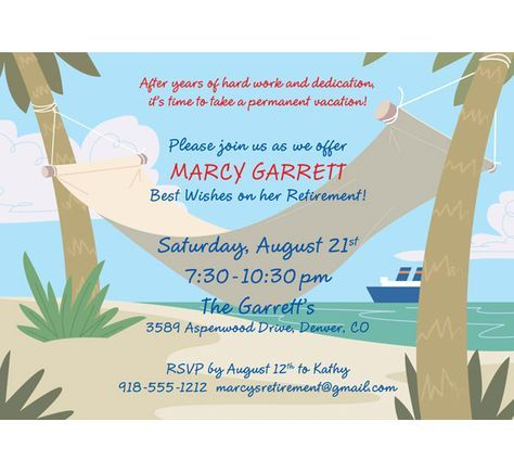 Retirement Party Ideas | Retirement Party Invitations. Invitations for Retirement Party.