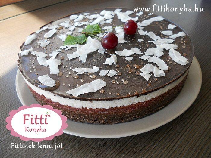 Meggyes-kókuszos csokoládétorta - Sütés nélkül! - Szilvi ÍzVilág