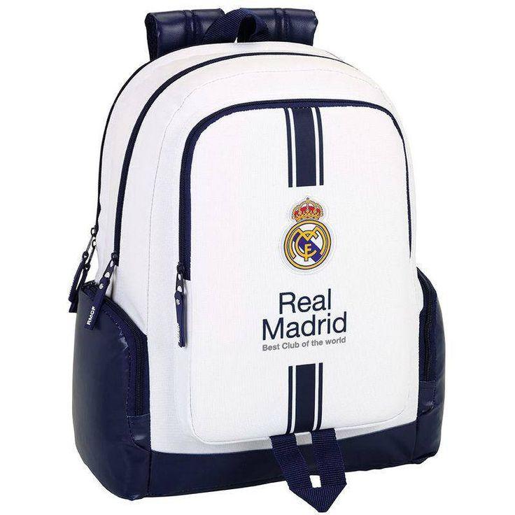 Real Madrid Best Club - Laptop Rugzak - 43 cm - Wit  #premierleague #laliga #cadeau #voetbal #voetbalkids