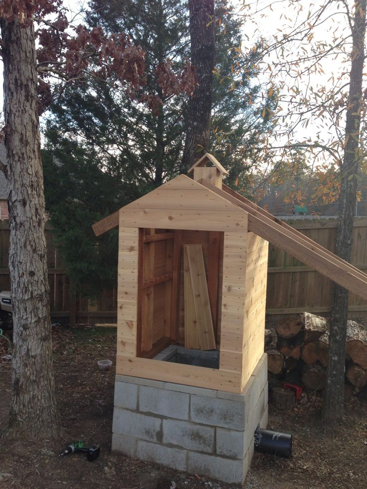 I started construction on a new smokehouse several weeks