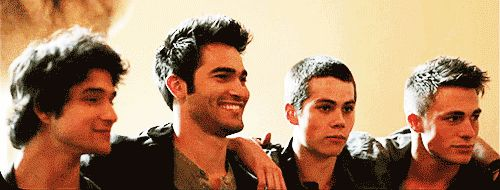 Tyler, Tyler, Dylan, and Colton. *gif*