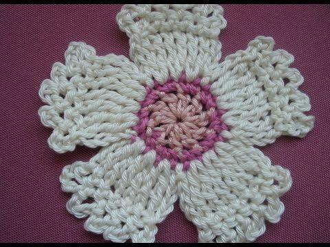 Crochet Flowers Tutorial By Carmen Heffernan : Crochet flower. Tutorial. NotikaLand.com #Crochet video ...