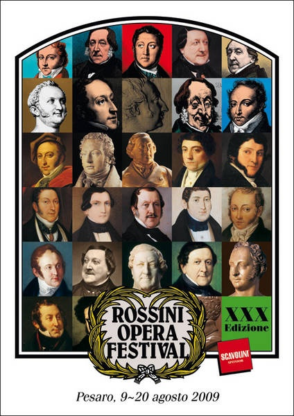 ROSSINI OPERA FESTIVAL - Pesaro, from 9th  to  20th August..This year will be the 30th edition of the Festival dedicated by the town of Pesaro to the master Gioacchino Rossini. Apart from the classic masterpieces of the Rossinian canon, which have here been restored to their authentic form  the Festival can also boast a long list of unknown titles, revived in important productions, which critics and audiences alike have greeted in each case as authentic cultural events.