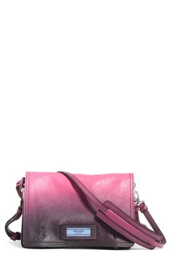52151872e5 Prada Small Etiquette Patch Leather Shoulder Bag